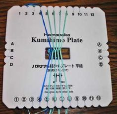 Everything for Kumihimo: free braiding plate instructions zigzag