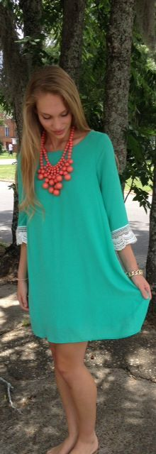 $58 <3 Pinned from Bella's Boutique <3 #Mint #Lace #Fashion #Dress #Love #Style #Trendy #Summer #Fling #Lady