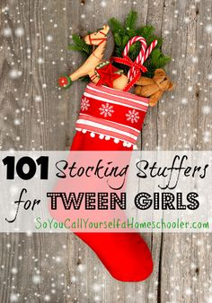 In need of some gift-giving inspiration for your tween girl? This list will help give you some great ideas! :: SoYouCallYourselfaHomeschooler.com