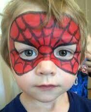 Spider Man mask - Face Painting by Jennifer VanDyke - Visit to grab an amazing super hero shirt now on sale! Spider Man Face Paint, Mask Face Paint, Spider Face, Spider Spider, Spider Girl, Superhero Face Painting, Face Painting Designs, Paint Designs, Fantasy Makeup