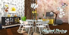Atwood Dining Set I by peacemaker ic via tumblr I Sims 4 I TS4 I Maxis Match I MM I CC