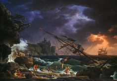Claude Joseph Vernet's The Shipwreck - 1772
