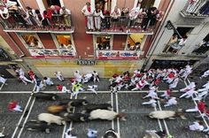 Running With the Bulls.  I'd be in the balcony...