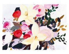 Winter Flowers by KT Smail #art #prints