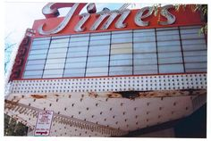 Closeup of the Times theater in Rockford Illinois/