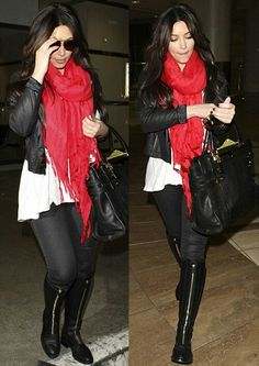 Red scarve kim kardashian