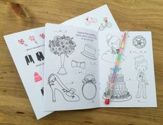 A6 Vintage Style Wedding themed activity pack with personalised front cover and…