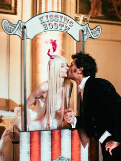 Kissing booth! Insane Italian Vintage Circus Wedding: Michelangelo  Francilla