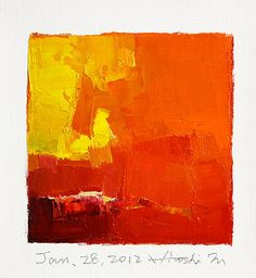 Jan 28 2012  Original Abstract Oil Painting  by hiroshimatsumoto, $60.00
