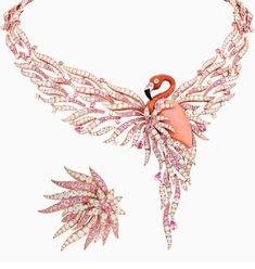 Van Cleef & Arpels jewelry collection Seven Seas - May 11 2019 at Sea Jewelry, Coral Jewelry, Bird Jewelry, Summer Jewelry, Pandora Jewelry, Modern Jewelry, Jewelry Design, Jewellery, Jewelry Art