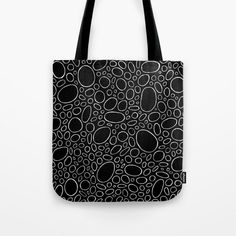 Organic - Black and White Tote Bag by laec | Society6