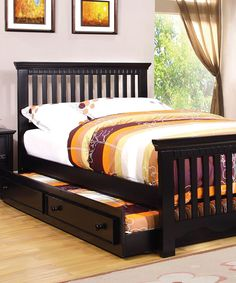Look at this Black Twin Trundle on #zulily today!