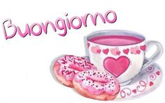 Good Morning, Tea Cups, Mugs, Day, Tableware, Cards, Quotes, Pink, Hail Mary
