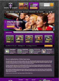 A website I designed I designed for White Knight Casino.