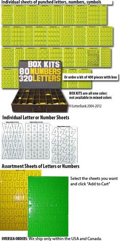 """3"""" letter kit in magnetic letters? with a cool storage box? Available in different colors."""