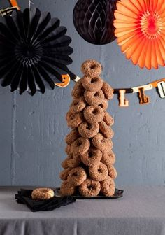Make a donut tree!! http://howdeosshe.com #donuttree