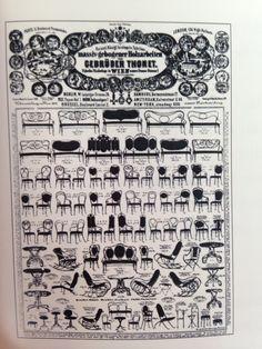 Page de catalogue de l'entreprise des frères Thonet, Vienne après 1873