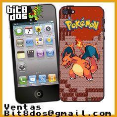 Case Charizard de Pokemon  #pixelart Te elaboramos cualquier diseño de videojuegos. Más información en bit8dos@gmail.com