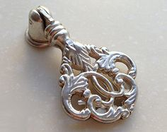 Shabby Chic Vintage silver Cabinet drop Handle Pull by LBFEEL