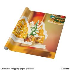 Shop Christmas wrapping paper created by Brasov. Custom Wrapping Paper, Christmas Wrapping, Presentation, Wraps, Presents, Gift Wrapping, Create, How To Make, Gifts