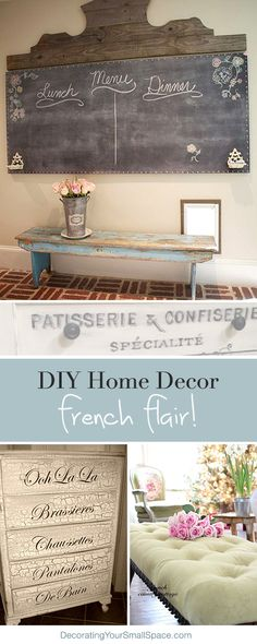 Diy Home Decor French Flair Great Ideas Tut Diy Home Decor French Flair Great Ideas Tut Diy Home Decor French Flair Great Ideas Tutorials Diy Home Decor French Flair Great Ideas French Decor, French Country Decorating, Painted Furniture, Diy Furniture, Furniture Plans, Kitchen Furniture, Cheap Home Decor, Diy Home Decor, Ideias Diy