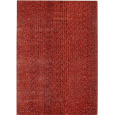 Safavieh Hand-knotted Mirage Rust Viscose Rug (6' x 9')