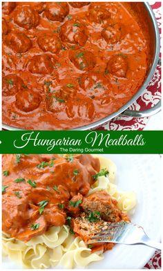 hungarian meatballs recipe paprika creamy sauce dill mushrooms veal beef chicken pork turkey