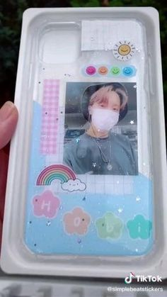 Kpop Phone Cases, Cute Phone Cases, Kawaii Phone Case, Cell Phone Covers, Iphone Cases, Resin Crafts, Resin Art, Diy Resin Phone Case, Kpop Diy