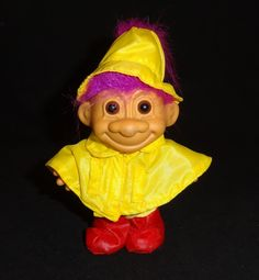 Vintage Troll Doll in Rain Gear by Russ