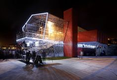 Jean Nouvel's Shipping Container Restaurant Sprouts on Seguin Island in wester Paris