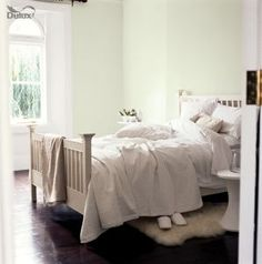 Colour for living room - Dulux White Cotton Cosy Bedroom, Bedroom Apartment, Bedroom Ideas, Apartment Therapy, Dulux White Cotton, Dulux Timeless, White Bedroom Design, Up House, Shack House