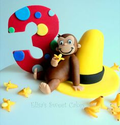 Throwing a Curious George party for your little monkey? Take a look at these amazing Curious George Cake Ideas! Curious George Cake Topper, Curious George Cakes, Curious George Party, Curious George Birthday, Curios George, Boy Birthday, Birthday Ideas, Birthday Cakes, How To Make Cupcakes