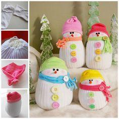 DIY Sock Snowmen & other Christmas crafts