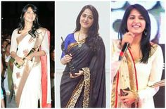 Anushka award pics Family Movies, Female Celebrities, Sarees, Awards, Wonder Woman, Superhero, Fictional Characters, Women, Fashion