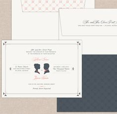 southern chic wedding suite 30 Uniquely Designed Wedding Invitations