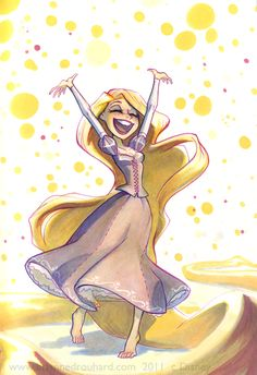 """Rapunzel by Breanne Drouhard - I love her style! I can't wait to see her """"Amethyst: Princess of Gemworld"""" shorts on DC Nation this fall! potatofarmgirl.deviantart.com"""