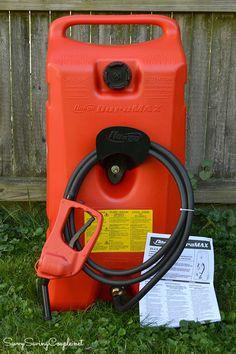 14 Gallon Portable Gas Pump from Hammacher Schlemmer Review #HolidayGiftGuide
