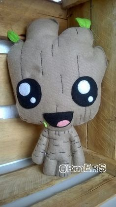 Your place to buy and sell all things handmade Baby Groot, Sewing Crafts, Sewing Projects, Craft Projects, Felt Fabric, Fabric Dolls, Felt Monster, Plush Pattern, Foam Crafts