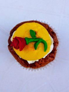 cupcake belle et la bête rose / beauty and the beast