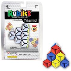 Rubik's Triamid From Winning Moves A triangular Rubiks puzzle – but with some key differences. There are 10 individual pieces, four joining sections, and four colorful sides that need to be solved. HINT: One of the features that makes the Rubik's Triamid difficult for a first-time user is the fact that about one-third of the …
