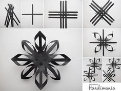 paper strip snowflakes