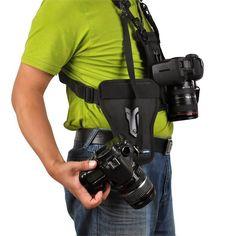 Opteka MCH-25 Multi Camera Carrier Harness Holster System for DSLR Cameras #Opteka