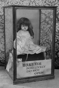 "blackoutraven: "" This is Gertrude The Haunted Doll resides in Ed & Lorraine Warrens haunted museum collection. Not as popular as Annabelle but a strong presence this Doll gives off. Would you take it home for a night if asked? - Southside Paranormal..."