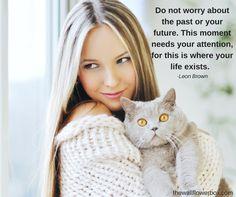 Be present. Cute cat! :)