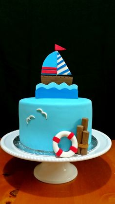 Sailboat themed cake
