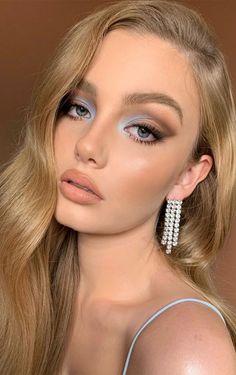 Makeup Eye Looks, Creative Makeup Looks, Natural Makeup Looks, Blue Eye Makeup, Cute Makeup, Pretty Makeup, Skin Makeup, Glam Makeup, Makeup For Brown Skin