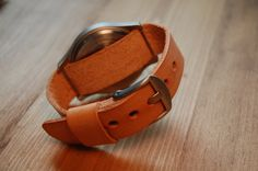 Leather Watch Strap Band 3 Ring Nato or Zulu by EakinStreetStudio $45