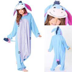 71d1a16e21a Buy Blue Eeyore Donkey Kigurumi Onesies Hoodie Pajamas Unisex Costume from  us