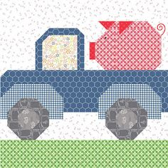 Bee In My Bonnet: Farm Girl Vintage 2 Quilt Along - Farm Girl Friday's - Week Nine! Boy Quilts, Girls Quilts, Barn Quilt Designs, Quilting Designs, Farm Quilt Patterns, Farm Animal Quilt, Beginning Crochet, Farmers Wife Quilt, I Spy Quilt