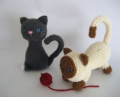 This crochet pattern will instruct you on how to make my original Kitten patterns. I have included lots of photos to help you along the way.